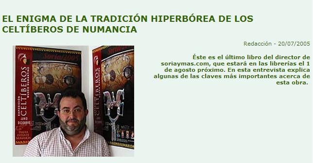 Celtiberos de Numancia, Entrevista a Angel Almazan
