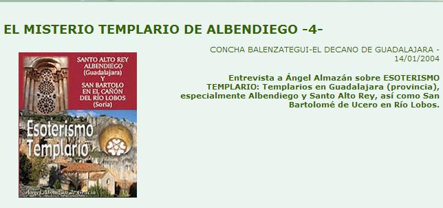 Esoterismo Templario, entrevista Angel Almazan en Decano de Guadalajara