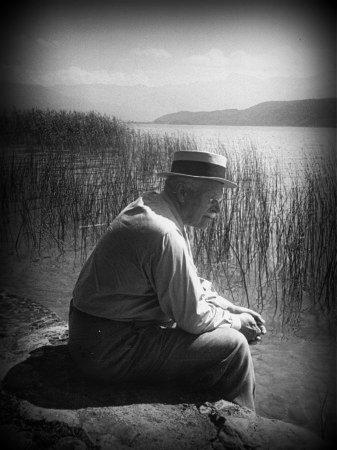 Jung en lago de Bollingen