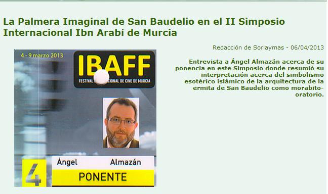 Palmera Imaginal de San Baudelio, entrevista Angel Almazan