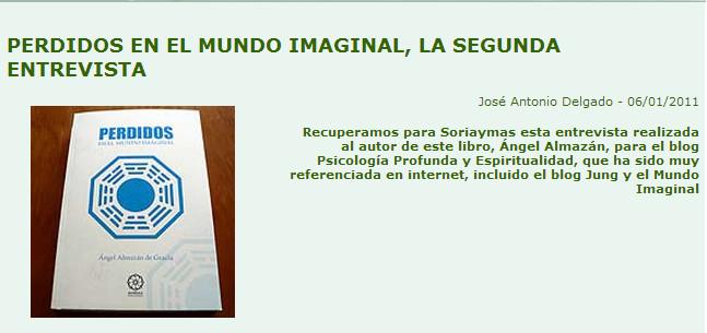 Perdidos en el Mundo Imaginal, segunda entrevista a Angel ALmazán