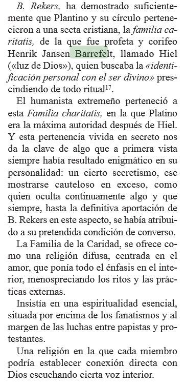 Arias Montano en Falilia caritatis