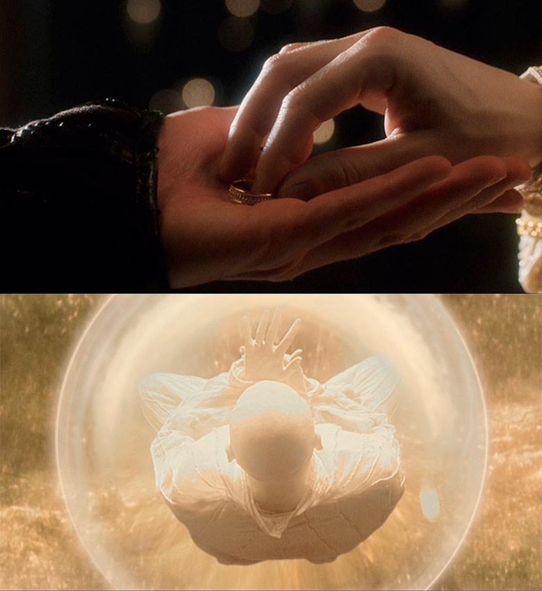 """Ella le entrega el anillo en el Mundo Imaginal de Xibalba, """"completándole"""", convirtiendose ambos en Elella y Ellael, una hispóstasis del Anthropos Primigenio Andrógino"""