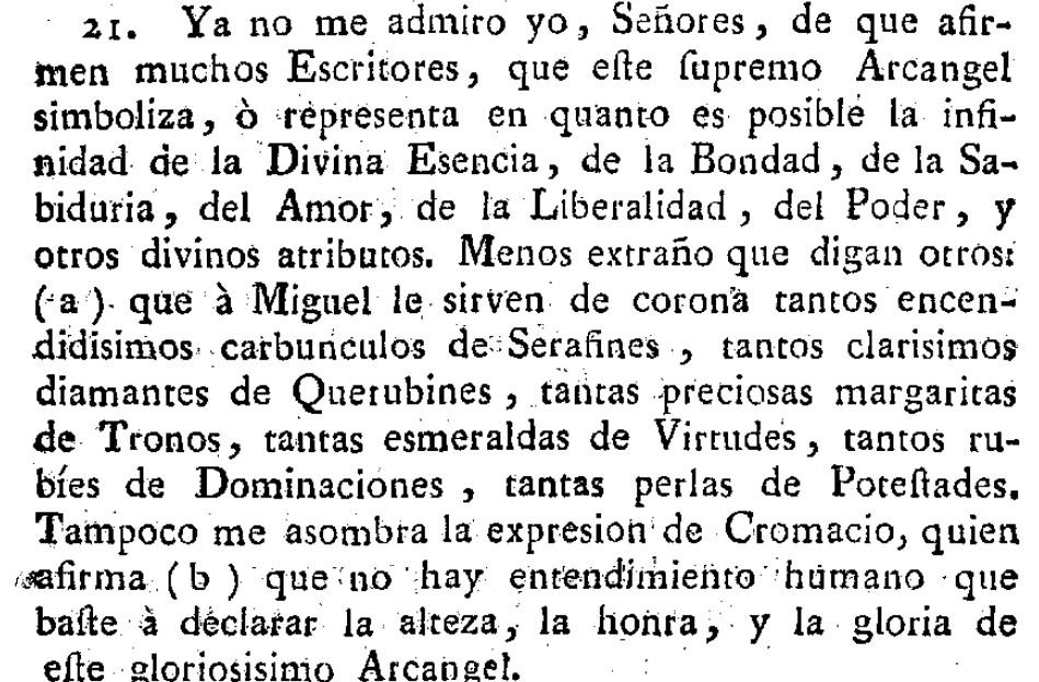 San Miiguel supremo en Joseph Fullana en 1788