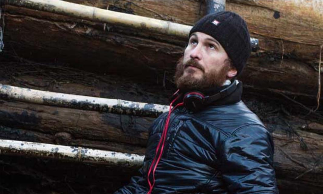 Darren Aronofsky junto al Arca durante el rodaje