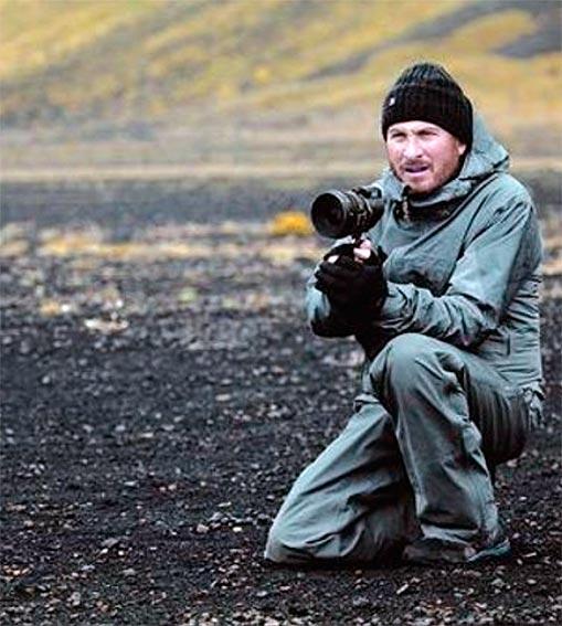 Aronofsky en el rodaje de Noé en Islandia