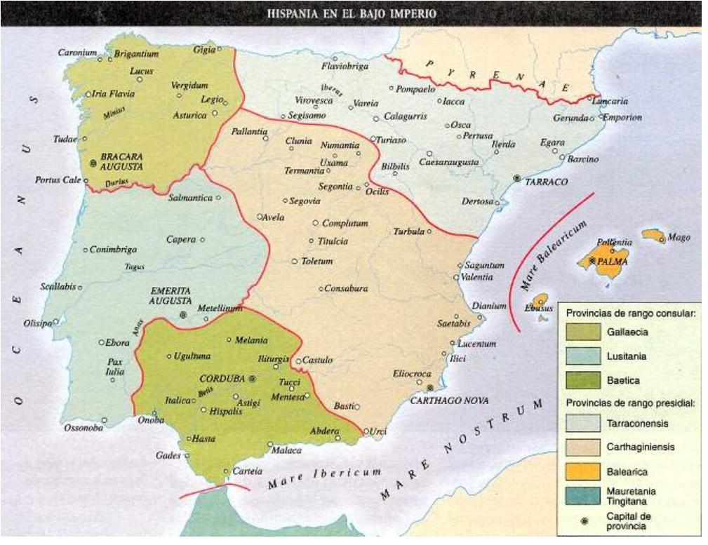 convenjos juridicos de Hispania en Bajo Imperio