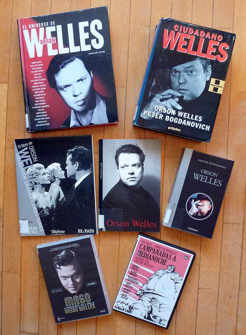 Libros-y-dvds-de-Orson-Welles-en-Biblioteca-de-Soria