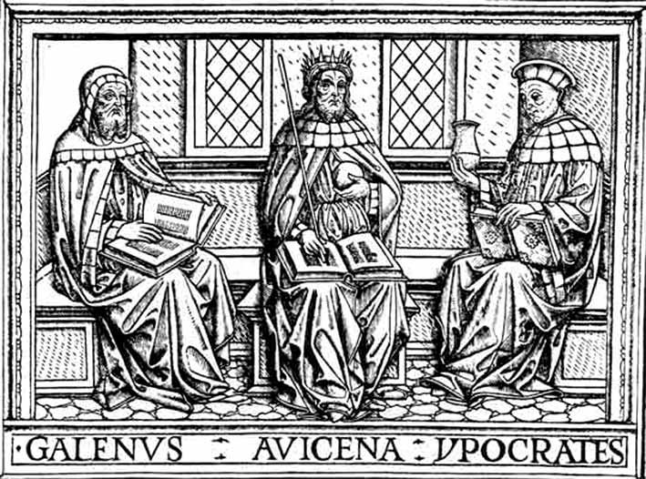 Galeno-Avicena-Hipocrates