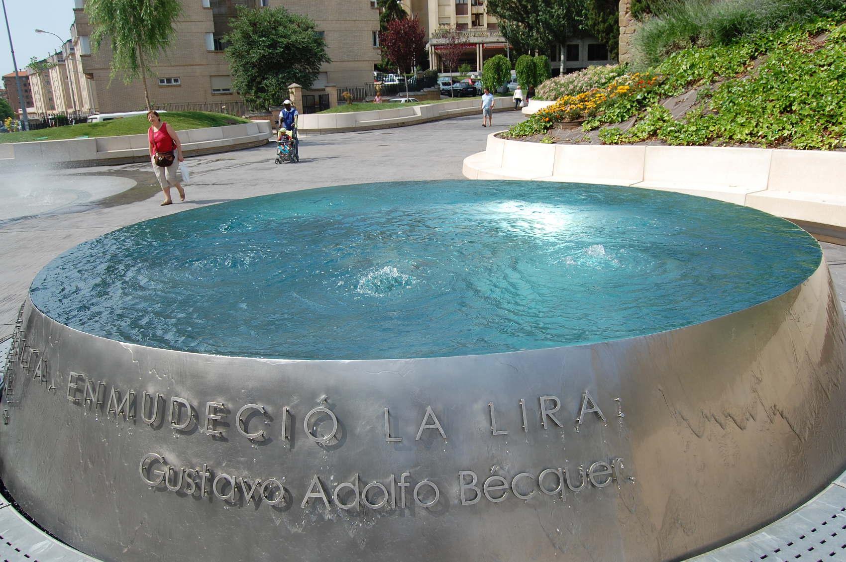 Fuente becqueriana en el Rincón de Bécquer (Soria)